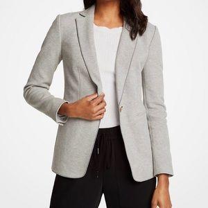 NWOT ANN TAYLOR The Knit Blazer in Light Grey Sz 2